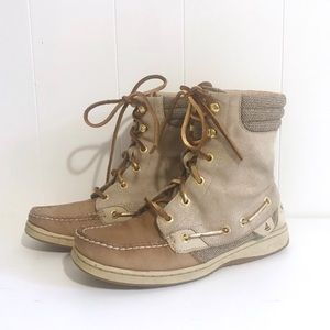 Sperry Top-Sider Hikerfish Boot 6 sparkle suede